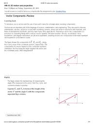 hw 3 2d motion and projectiles mastering physics answers