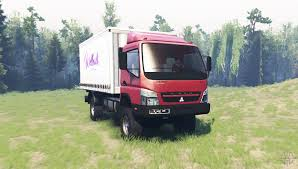 mitsubishi truck canter mitsubishi fuso canter fe7 v1 1 for spin tires