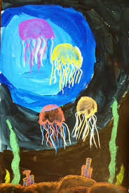jelly fish mixed media value lesson create art with me