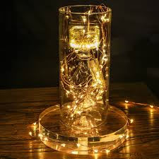 Starry String Lights Amber Lights On Copper Wire by Magicfly 8 Pack 30 Led Starry String Light Battery Powered Copper