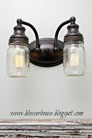 Replacement Globes For Bathroom Light Fixtures by Diy Mason Jar Vanity Light Bless U0027er House