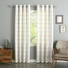 Sheer Grommet Curtains Sheer Grommet Curtains 84 Grid Stitched Linen Blend Plaid Check