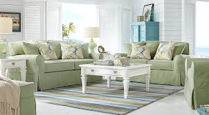 Rooms To Go Living Room Furniture by Cindy Crawford Home Beachside Green 7 Pc Living Room Living Room