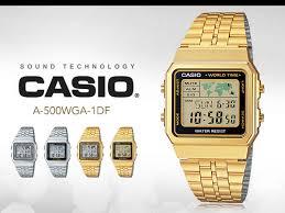 Jam Tangan Casio Gold jam tangan casio retro digital untuk wanita arlojinesia