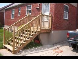deck stair railing installation a deck building youtube