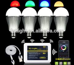 rf wireless flix rgb led light bulb color changing with warm white
