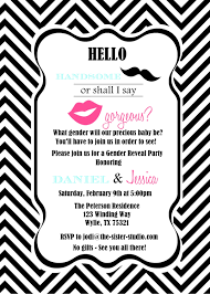 gender reveal invite wording richey babies toddlers kids teens