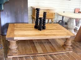 Balustrade Coffee Table Custom Made S Rustic Solid Maple Balustrade Coffee Table By