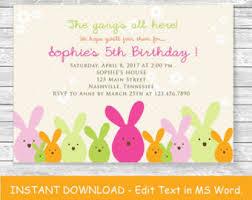 birthday invite template birthday invitation template etsy