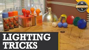 Lighting Tips by Quick Tips Diy Lighting Tricks Youtube