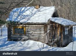 small cabin very small cabin winter forest stock photo 71284117 shutterstock