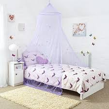 Purple Bed Canopy Princess Bed Canopy Amazon Co Uk