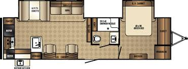 Puma Travel Trailers Floor Plans Palomino Solaire 304rkds Rear Kitchen Travel Trailer Rv