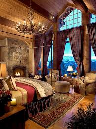 Extraordinary Rustic Log Home Bedrooms Mountains Cabin And - Interior design for log homes