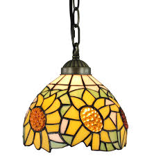 tiffany glass pendant lights amora lighting tiffany style 1 light sunflower pendant lamp 8 in