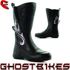 ladies motorbike boots blytz ladies waterproof leather motorbike womens motorcycle boots