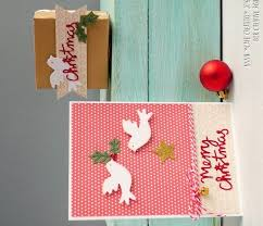 coordinating christmas card and gift box with little birds