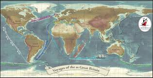 Great Britain On World Map by The Ss Great Britain On Her Way To Australia 1852 Ss Great Britain