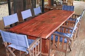 Redwood Dining Table Home Timber U0027n Steel Stunning Redwood Dining Table