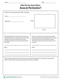 area worksheets education com