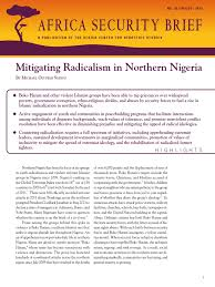 mitigating radicalism in northern nigeria boko haram nigeria