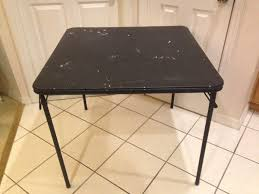cosco square folding table cosco square black vinyl top folding dining or card table 34x34x28