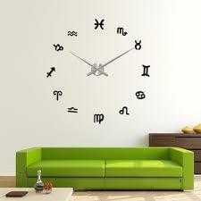 popular art wall clock wholesalers buy cheap art wall clock taotown modern diy large wall clock 3d mirror surface sticker home decor art design new wholesale