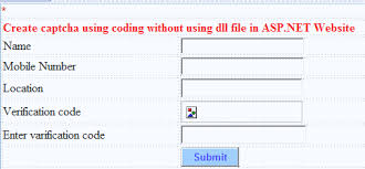design web form in visual studio 2010 how to create captcha image without dll file in asp net my net