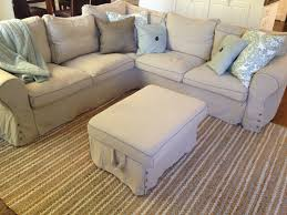 ikea sofa slipcovers furniture minimize amount of fabric you need to tuck with