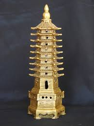 brass 9 level pagoda feng shui pagoda wenchang pagoda