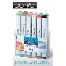 marker 12 piece pastel colours