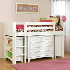 Bed With Stairs And Desk Loft Beds White Low Loft Bed 6 Beds With Desk And Storage White