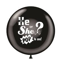 gender reveal balloons 36 baby gender reveal balloon pop to see 1ct