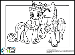 princess cadence coloring pages sheets 2810