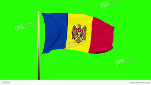 Flag Yellow Sun Moldova Flag Waving In The Wind Looping Sun Rises Style