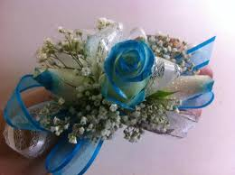 Prom Flowers Teal Prom Corsage In Modesto Ca Flowers By Alis