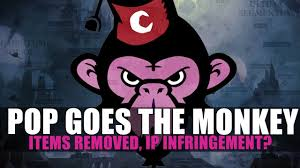his and items pop goes the monkey ip infringement items removed from his