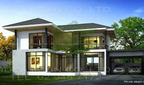 Two Story Home Designs Example Modern House Designs Two Story Plans Building Plans