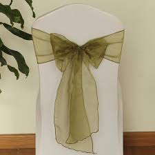 Chair Sashes For Weddings 19 Colors Wedding Organza Chair Sashes Bow Sash Party Banquet
