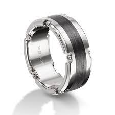 palladium jewellery masculins palladium and carbon fibre wedding ring henry d