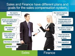 sales and finance have different