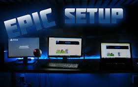 gaming setup ps4 my setup room tour gaming setup tour led light addition dual