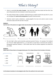 what is history u0027 introductory worksheet by claireebolton