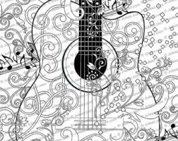 coloring page printable guitar coloring pages music