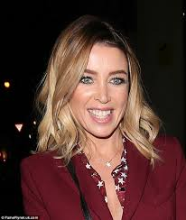 hair styles for 45 year old dannii minogue is all smiles as she makes her way to the one show
