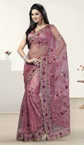 bridal designer pink net shimmer designer bridal embroidered saree