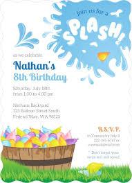 Backyard Birthday Party Invitations by Colorful Water Balloon Birthday Party Invitation Kids Birthday