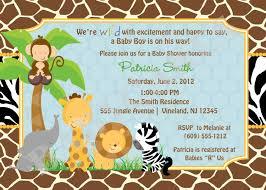 Invitation Card Baby Shower Safari Theme Baby Shower Invitations Theruntime Com