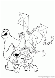 cookie monster zoe elmo coloring pages cookie monster