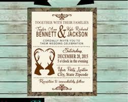 Camouflage Wedding Invitations Hunting Invitation Etsy